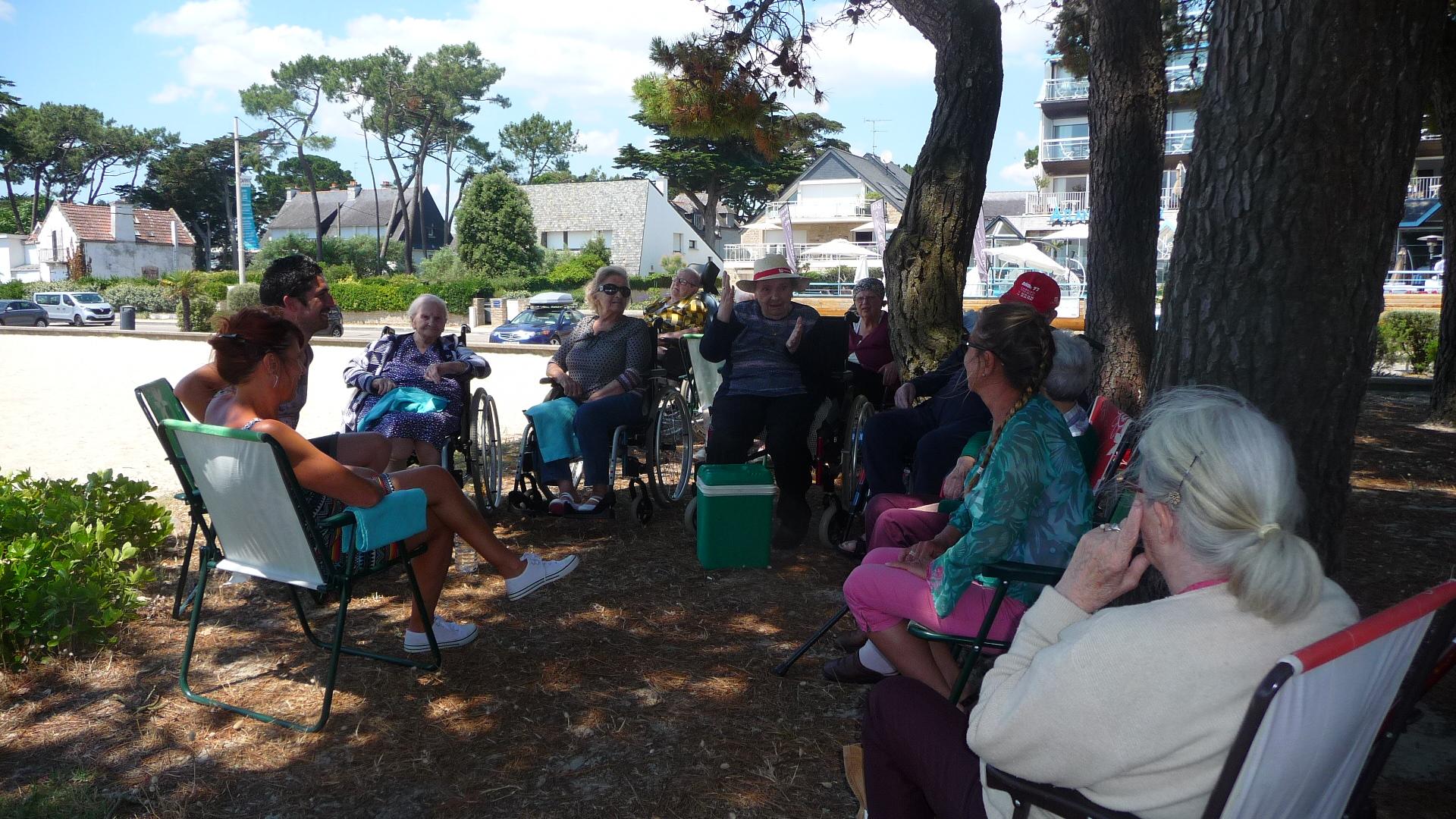Sortie plage à Carnac le 29 juin 2018